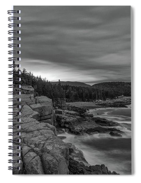 Last Light At Otter Cliff Spiral Notebook