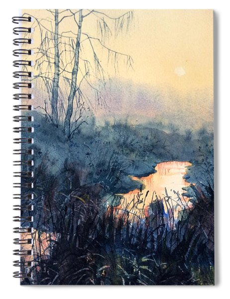 Last Light On Skipwith Marshes Spiral Notebook