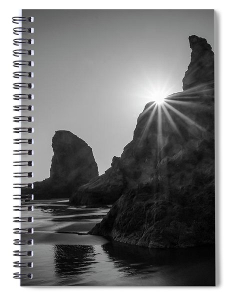 Last Light On The Coast Spiral Notebook