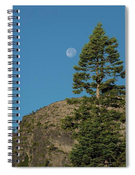 Last Moments Of A Full Moon Spiral Notebook