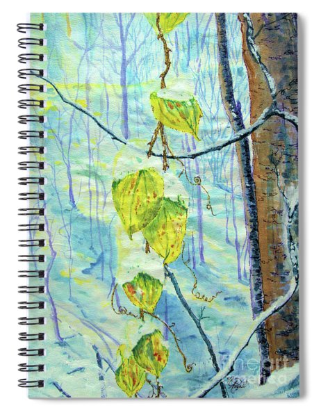 Last Of The Leaves Spiral Notebook