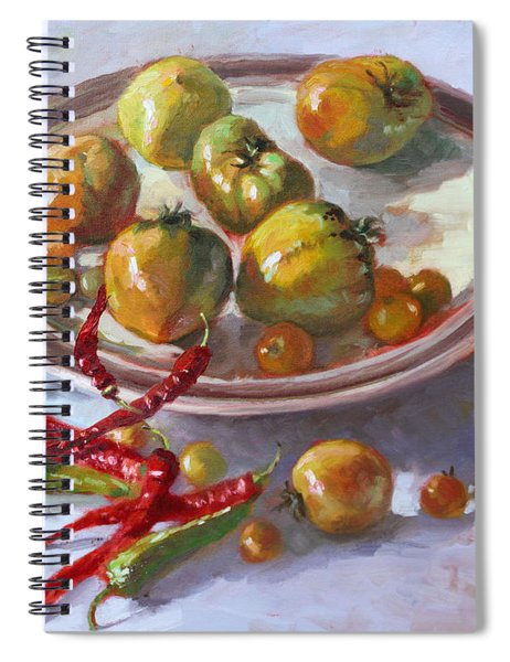 Last Tomatoes From My Garden Spiral Notebook