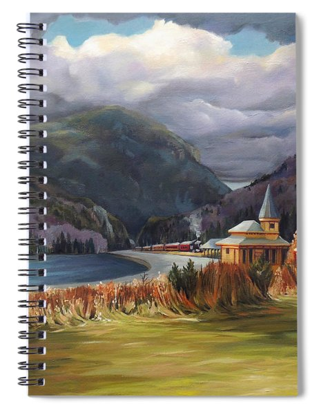 Last Train To Crawford Notch Depot Spiral Notebook