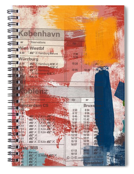 Last Train To Kobenhavn- Art By Linda Woods Spiral Notebook