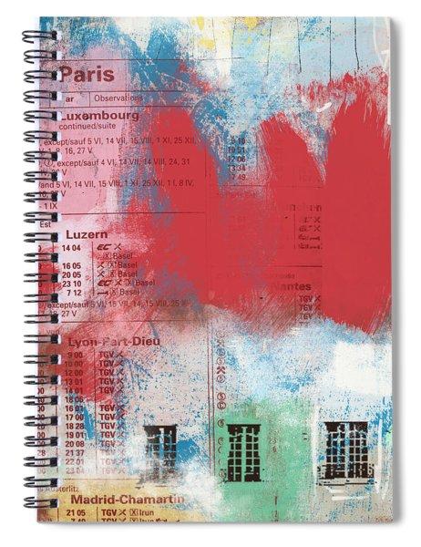 Last Train To Paris- Art By Linda Woods Spiral Notebook