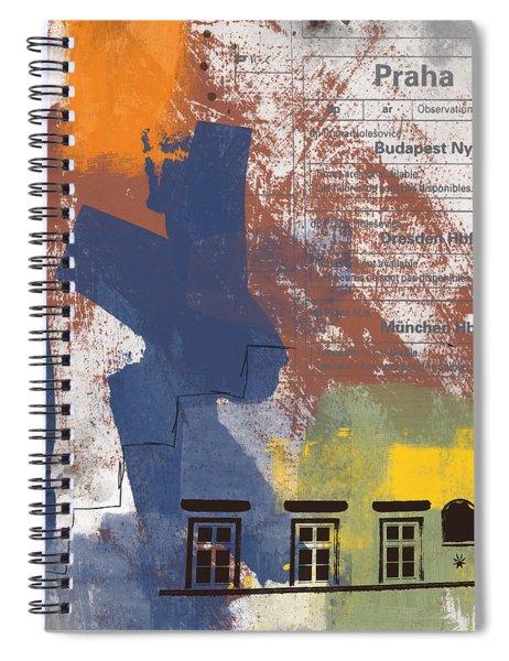 Last Train To Prague- Art By Linda Woods Spiral Notebook