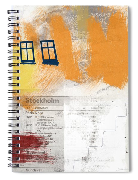 Last Train To Stockholm- Art By Linda Woods Spiral Notebook