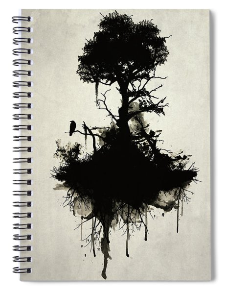 Last Tree Standing Spiral Notebook by Nicklas Gustafsson