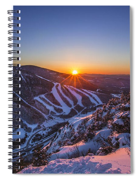 Last Winter Sunset Over Cannon Mountain Spiral Notebook