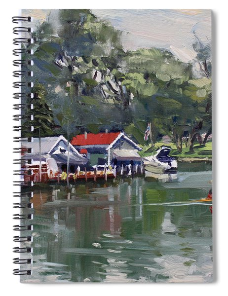 Late Afternoon By The Canal Spiral Notebook