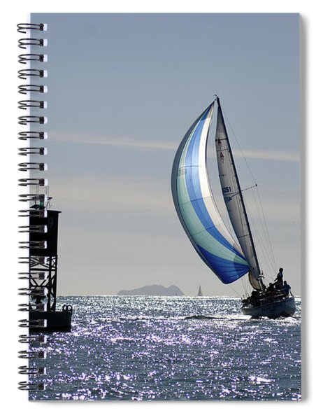 Late Afternoon Sail Spiral Notebook