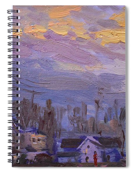 Late Evening In Town Spiral Notebook