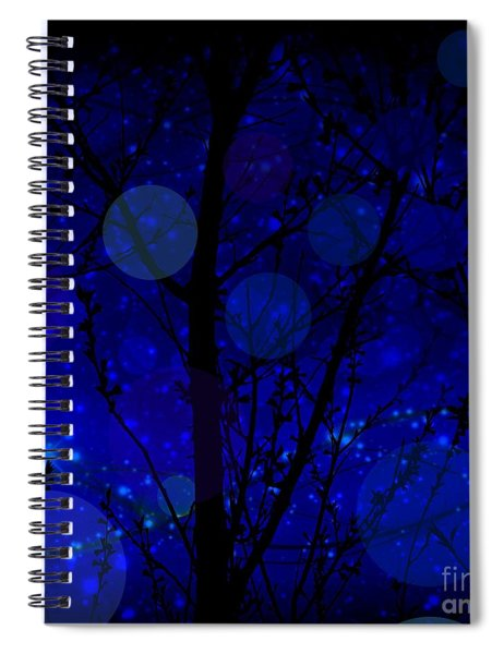 Late Night Fairy Flight Spiral Notebook