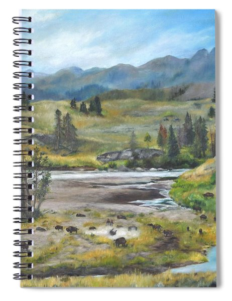 Late Summer In Yellowstone Spiral Notebook