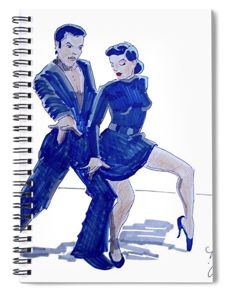 Latin Ballroom Spiral Notebook