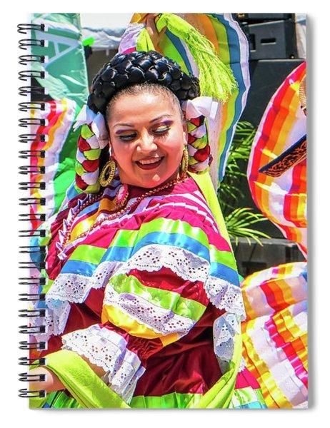 Latino Street Festival Dancers Spiral Notebook