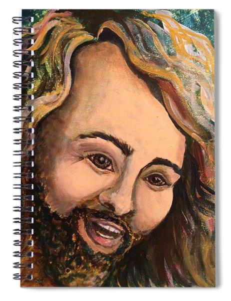 Laughing Jesus Spiral Notebook