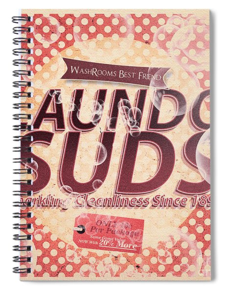 Laundo Soap Suds Advertising Spiral Notebook