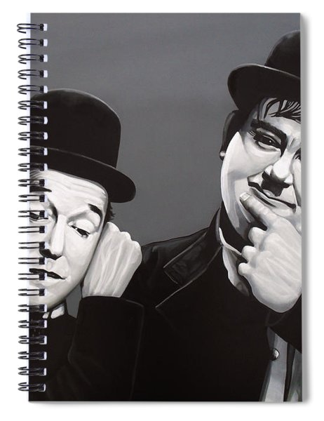 Laurel And Hardy Spiral Notebook