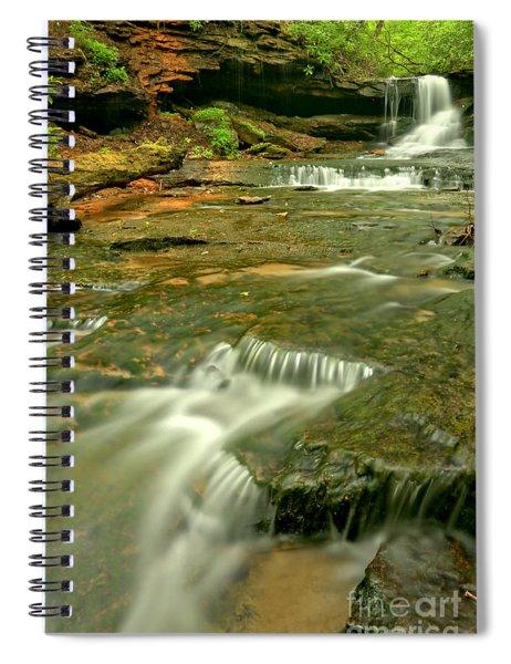 Laurel Highlands Waterfall Portrait Spiral Notebook
