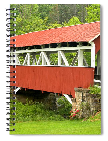 Laurel Hill Creek Covered Bridge Spiral Notebook