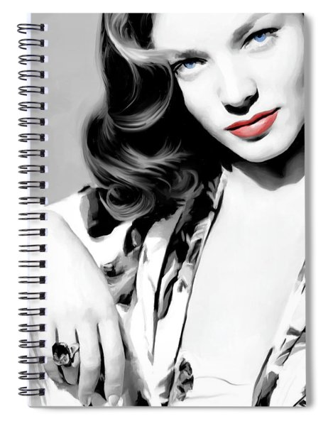 Lauren Bacall Large Size Portrait 2 Spiral Notebook