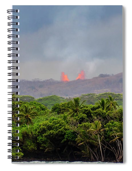Lava Fountain Spiral Notebook