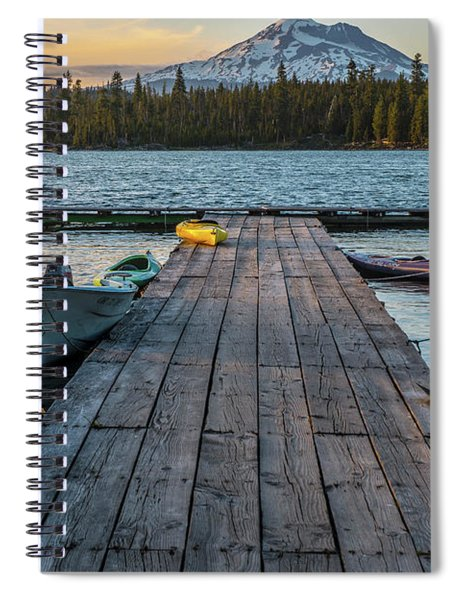 Lava Lake Evening  Spiral Notebook
