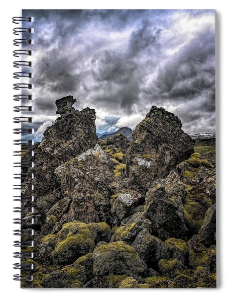 Lava Rock And Clouds Spiral Notebook