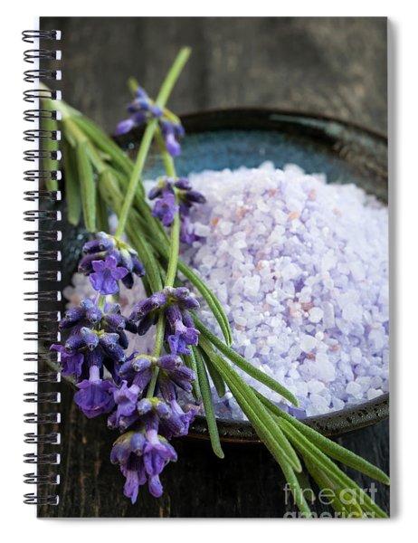 Lavender Bath Salts Spiral Notebook