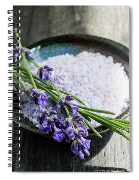 Lavender Bath Salts In Dish Spiral Notebook