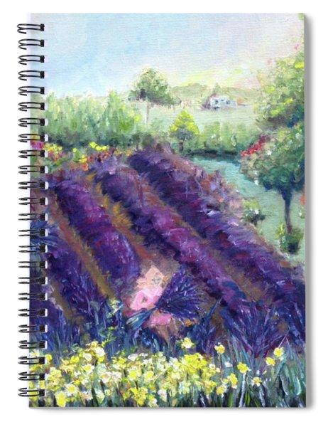 Lavender Farm Spiral Notebook