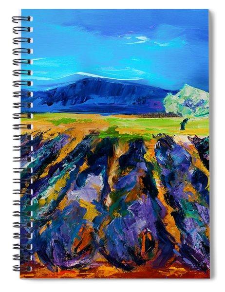 Lavender Field Spiral Notebook