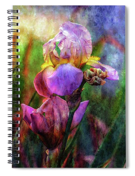Lavender Iris Impression 0056 Idp_2 Spiral Notebook
