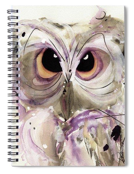 Lavender Owl Spiral Notebook