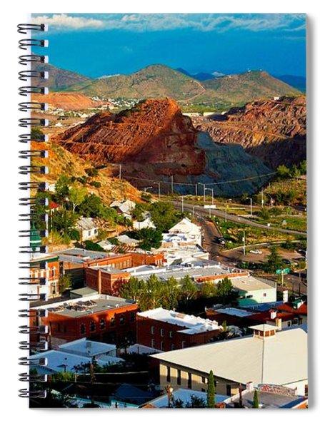 Lavender Pit In Historic Bisbee Arizona  Spiral Notebook