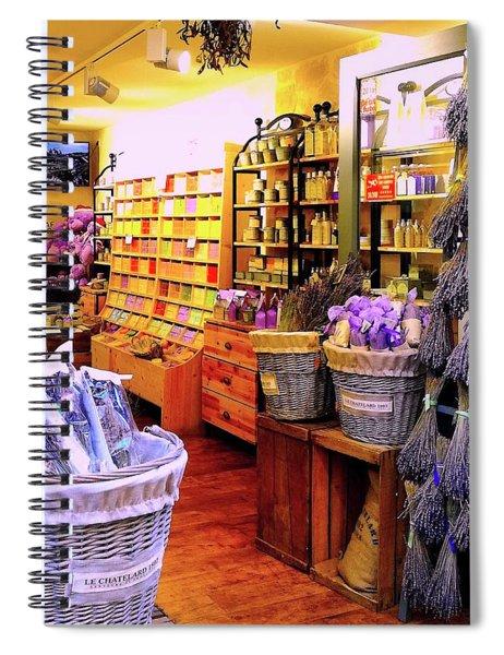 Lavender Shop In Southern France Spiral Notebook