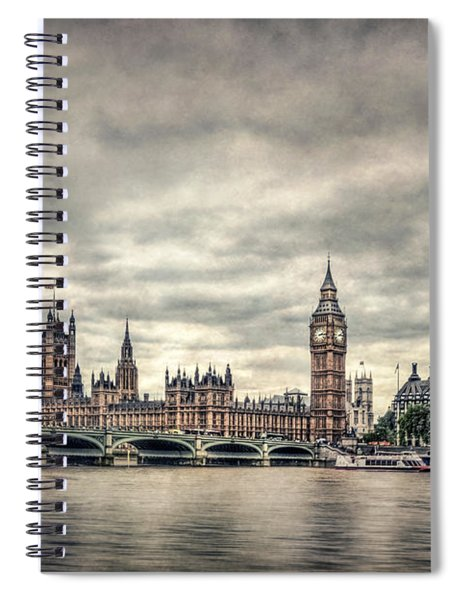 Lay Back And Think Of England Spiral Notebook