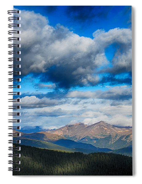 Layers Of Clouds On Mount Evans Spiral Notebook