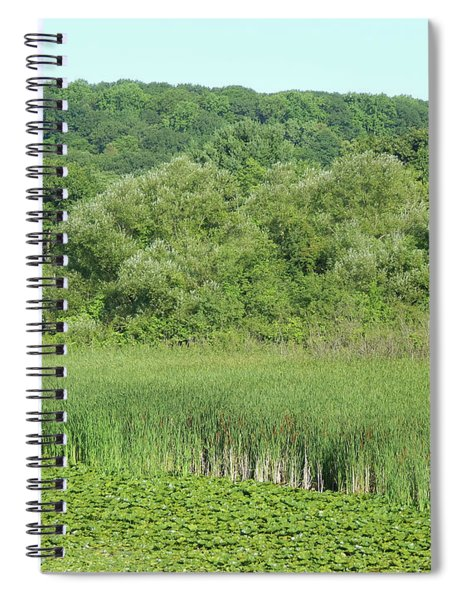 Layers Of Green Spiral Notebook