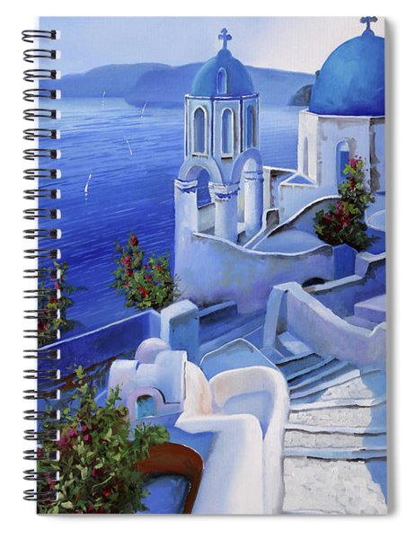 Le Chiese Blu Spiral Notebook