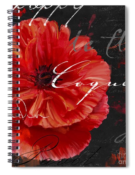 Le Pavot Spiral Notebook