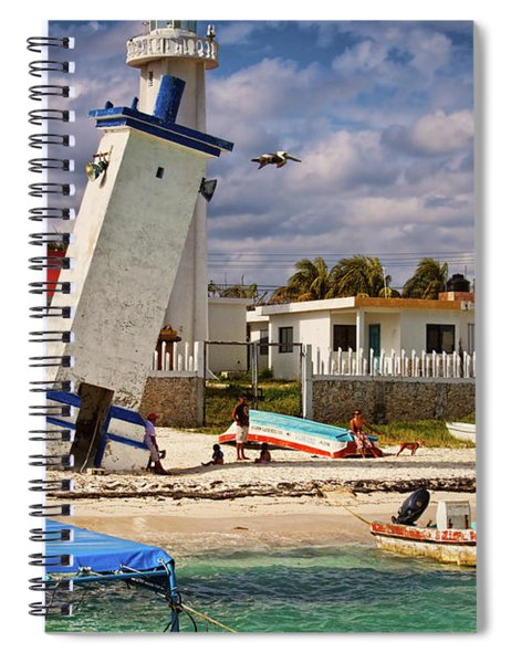 Leaning Lighthouse Spiral Notebook