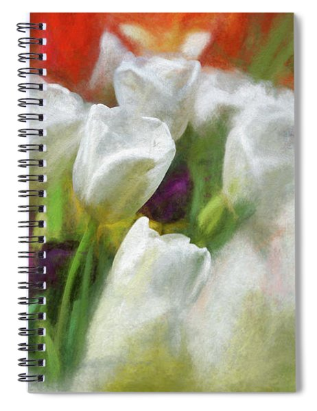 Spiral Notebook featuring the photograph Leaning On Each Other by Andrea Platt