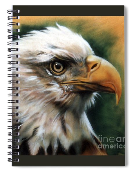 Leather Eagle Spiral Notebook