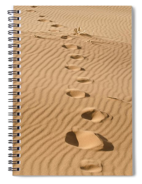 Leave Only Footprints Spiral Notebook