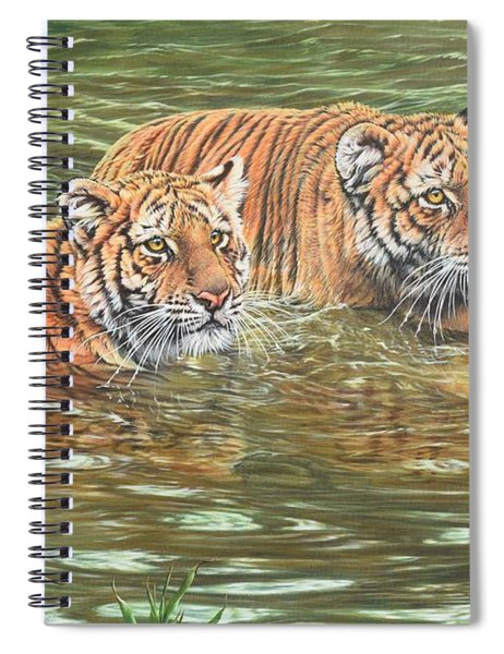 Spiral Notebook featuring the painting Leave This To Me Sis by Alan M Hunt