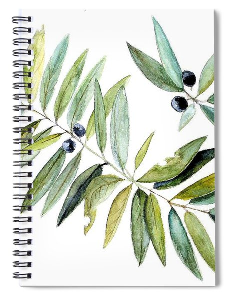 Leaves And Berries Spiral Notebook