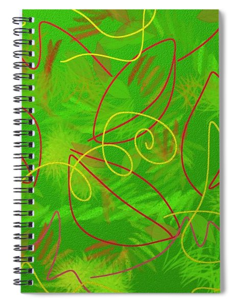 Leaves And Grass Spiral Notebook