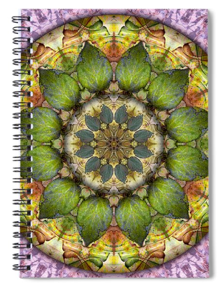 Leaves Of Glass Spiral Notebook